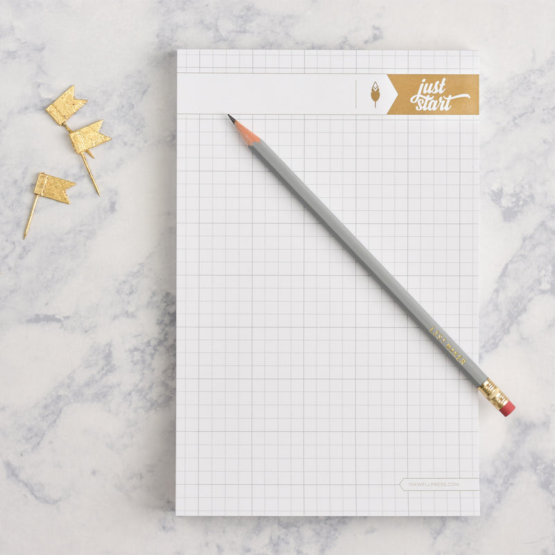 Graph Paper Notepad with Thick Paper