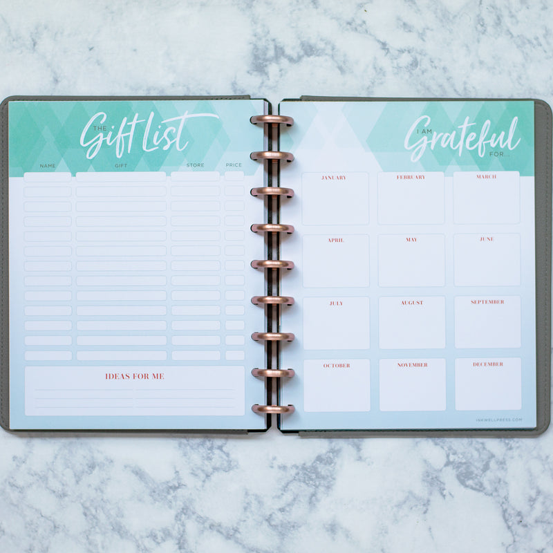 inkWELL Press Business Planner with Horizontal Flex Layout and Colorful Two Page Spreads
