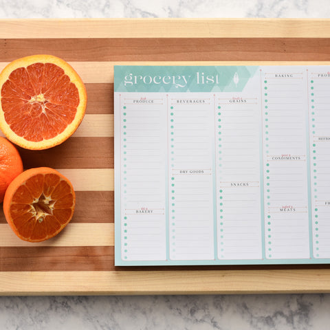 Grocery List Notepad to Help Get Grocery Shopping Done Quicker