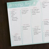 Grocery List Notepad to Help Streamline Grocery Shopping