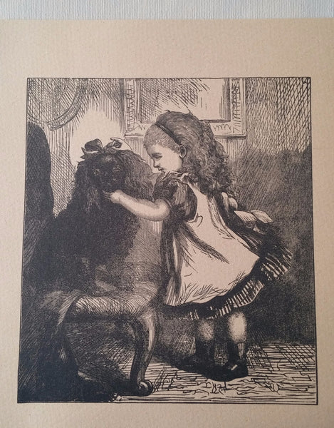 Vintage print of a King charles / English Toy Spaniel