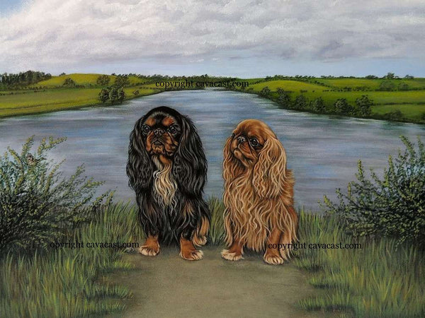 """ Charlies "" King Charles / English toy spaniel limited edition Giclee print"