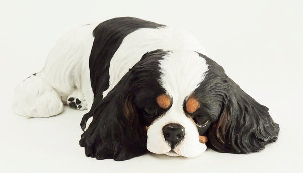 Sleepy Cavalier King Charles Spaniel Sculpture