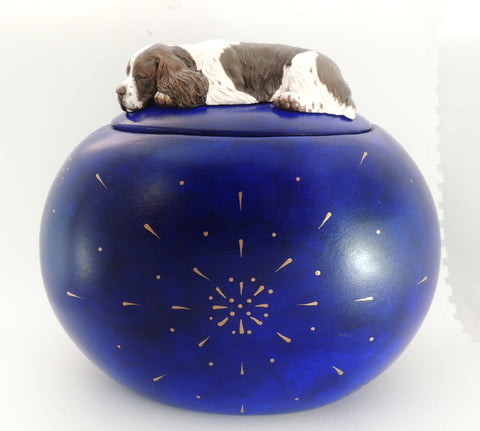 English Springer Spaniel, Large Pet Keepsake Box / Cremation Urn