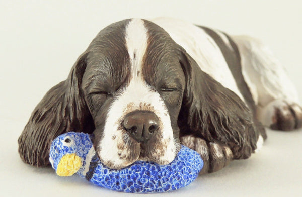 Sleepy English Springer Spaniel Sculpture
