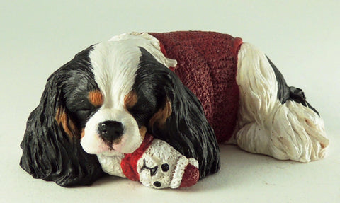 Original Sculpture of a Festive Cavalier King Charles Spaniel