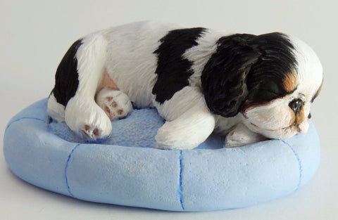 Original Sculpture of a King Charles Spaniel (English Toy) Puppy