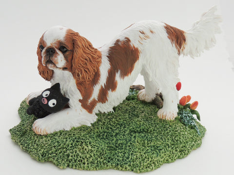 Original Sculpture of a Playful King Charles Spaniel (English Toy)