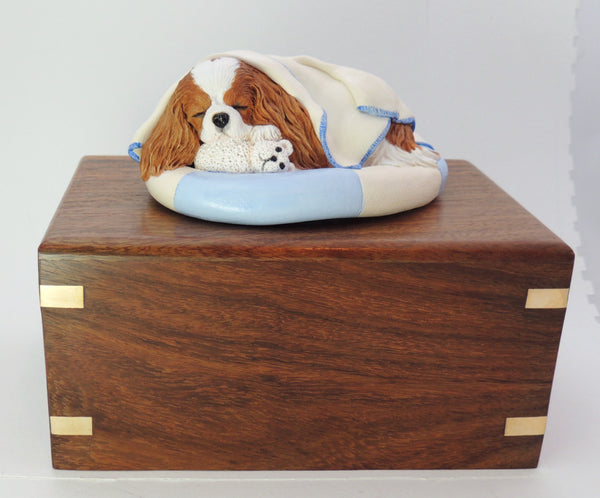 Cavalier King Charles Rosewood Cremation Urn