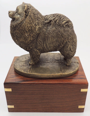 Keeshond Rosewood Cremation Urn