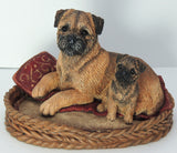 Border Terrier & Puppy Sculpture , Limited Edition