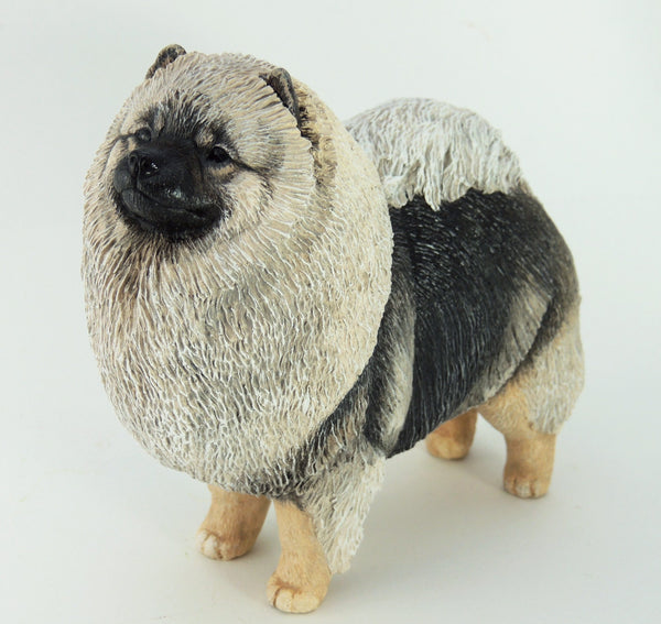 Keeshond Dog Sculpture