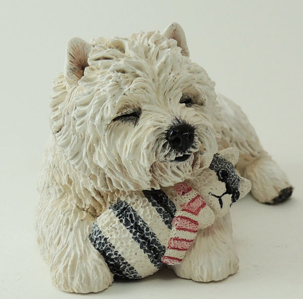 West Highland White Terrier Cuddling Toy, Sculpture