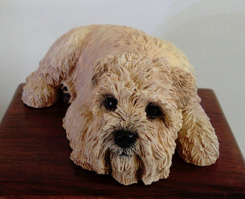 Soft Coated Wheaten Terrier Cremation Urn