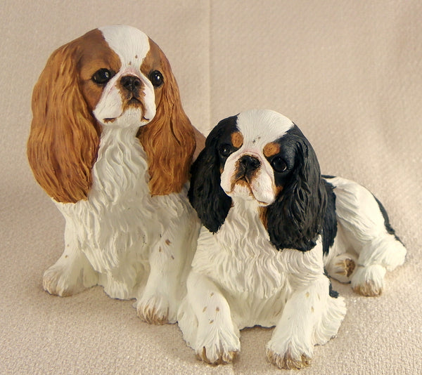 Pair of English Toy Spaniels ( King Charles Spaniel )