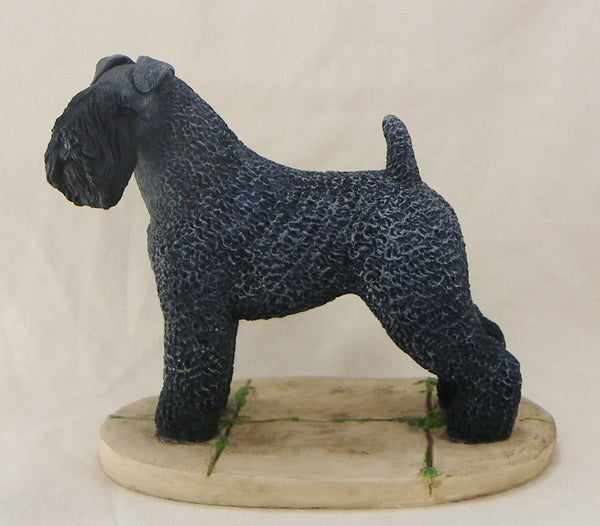 Kerry Blue Terrier Sculpture
