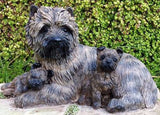 Cairn Terrier With Puppies Figurine