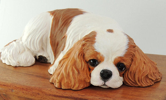 Cavalier King Charles Spaniel Wood Cremation Urn