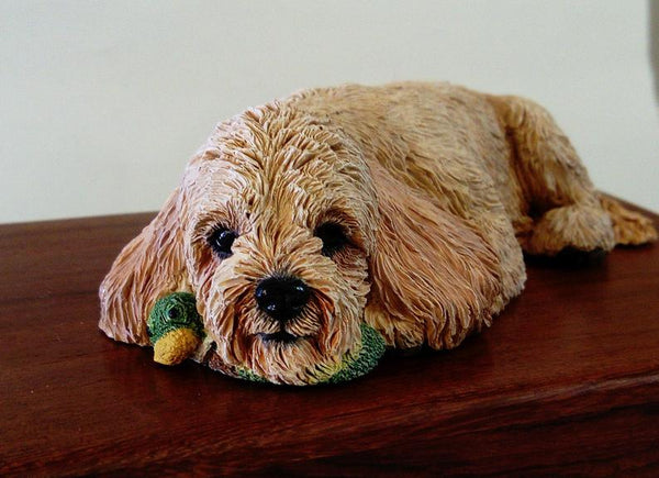 Cockerpoo Wooden Cremation Urn For Dog Ashes