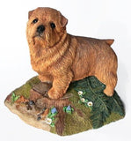 Norfolk Terrier Rosewood Cremation Urn
