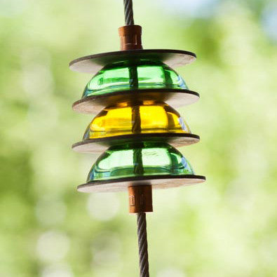 3 ft. green and yellow rain chain