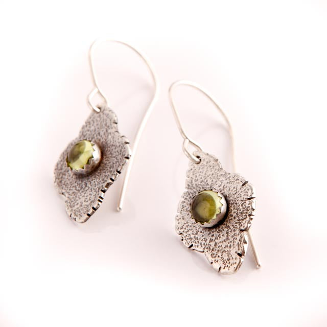 Peridot On Abstract Silver