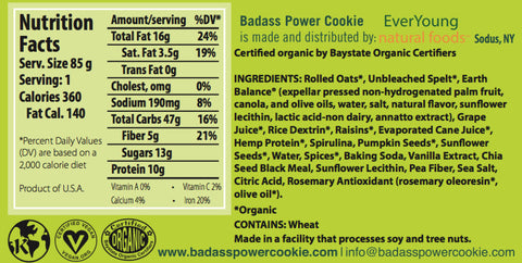 Badass Power Cookie - Original Oatmeal Raisin