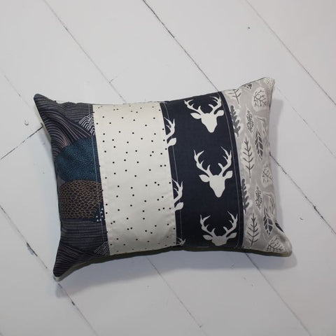 Quilted Pillow in Navy