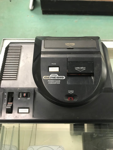 Sega Genesis (2nd Generation) with Power Base Converter