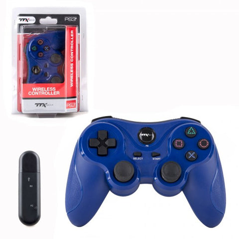 TTXTech PS3 Wireless Controller (Blue/New)