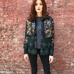 Reversible Jacquard Jacket Layered