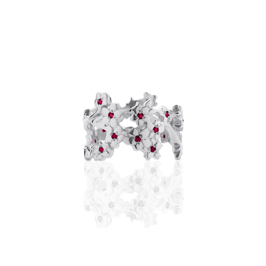 Ruby Cherry Blossom Ring Meadowlark