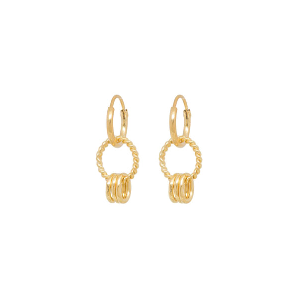Rope Multi Ring Earrings