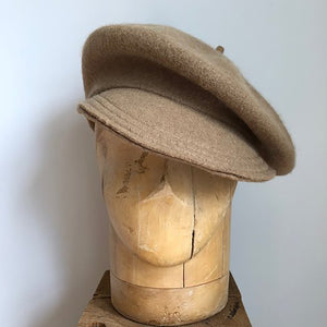 Camel Wool brimmed berets made in NYC small batch hand made millinery Karema Deodato Line & Label