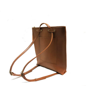 Cognac Low Profile Backpack