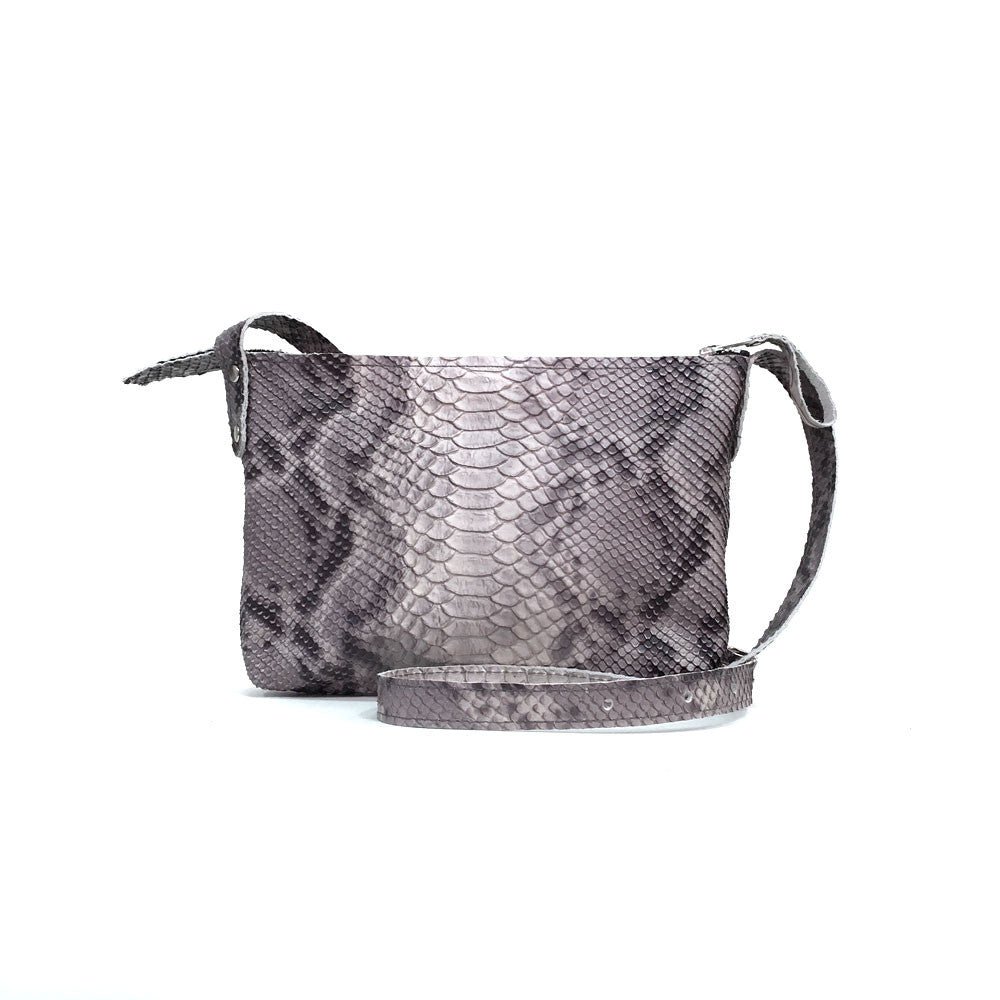 Grey Snake Buckle Bag