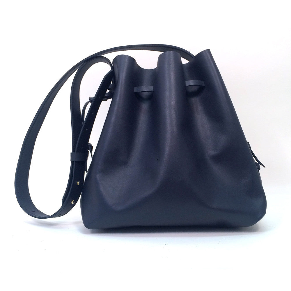 Double Drawstring Bucket Bag