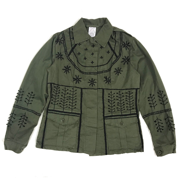 Hand Embroidered Army Jacket