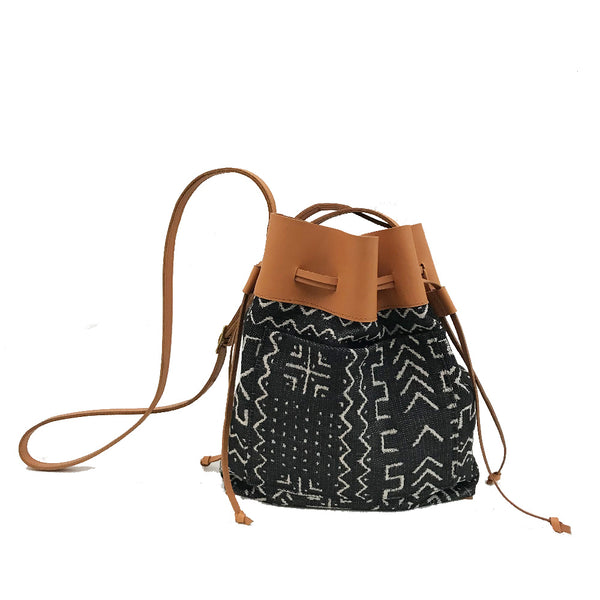 Mud Cloth Bucket Bag