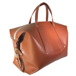 Leather Weekender Travel Carry-On Tote Bag with Shoulder Strap