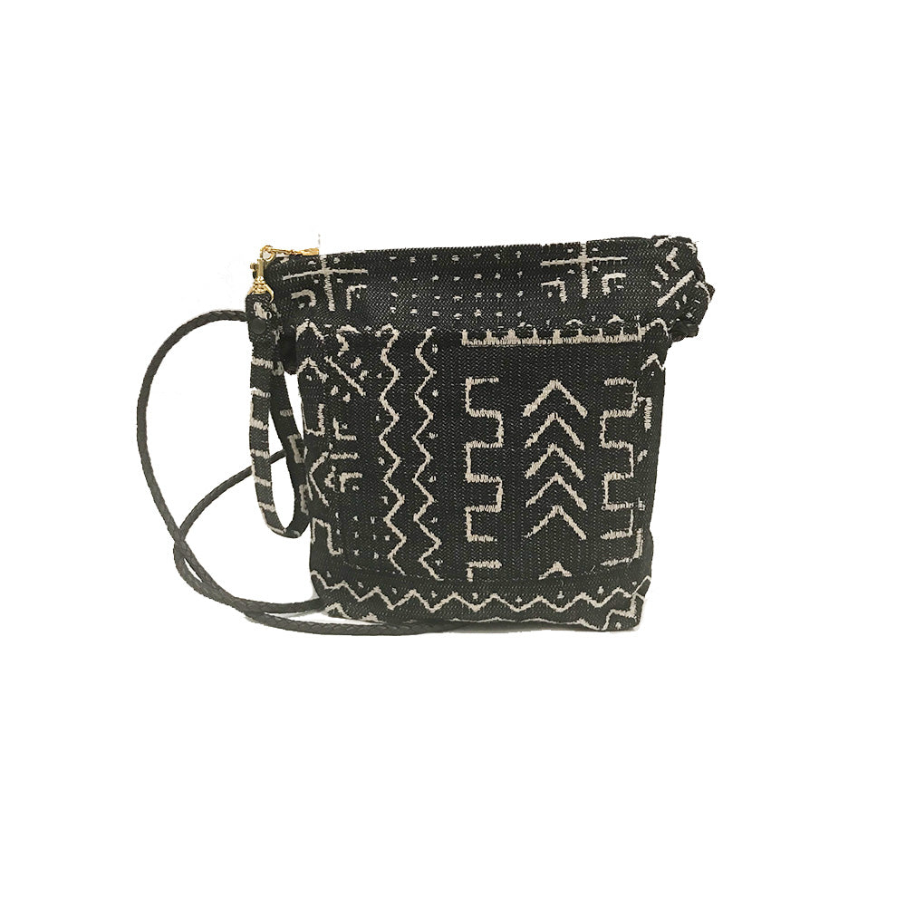 Mudcloth Woven Crossbody Bag Made in Brooklyn
