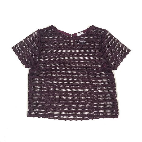 Plum Lace Top