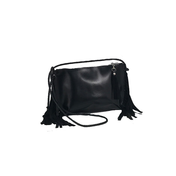 Small Suede Fringe Bag