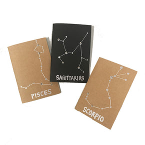 Constellation Astrology Star Sign Blank Notebooks made in Brooklyn