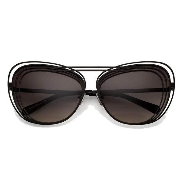Wildfox Matte Black Art Deco Sunglasses