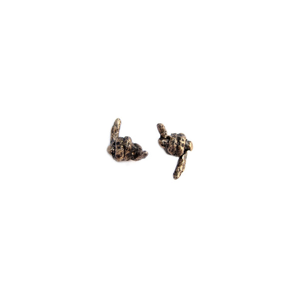 Barbed Wire Cast Stud Earrings