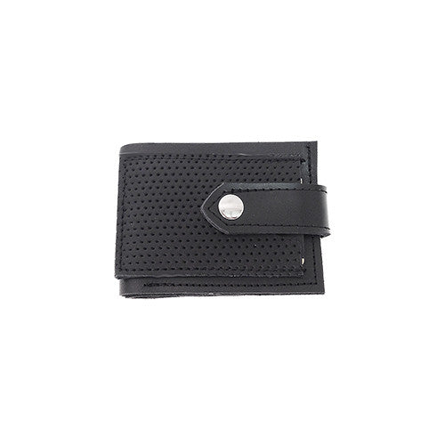 Black Perforated Leather Wallet
