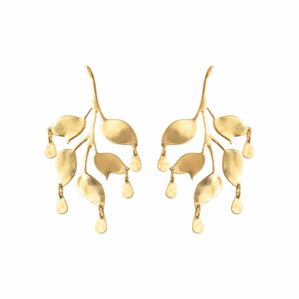 Gold Ophelia Drop Earrings