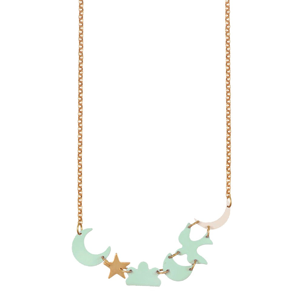 Mint Night Sky Necklace