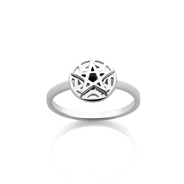 Meadowlark Sterling Silver Pentagram Star Ring
